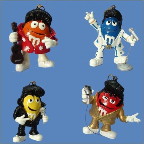 Elvis / M&M Christmas Ornaments
