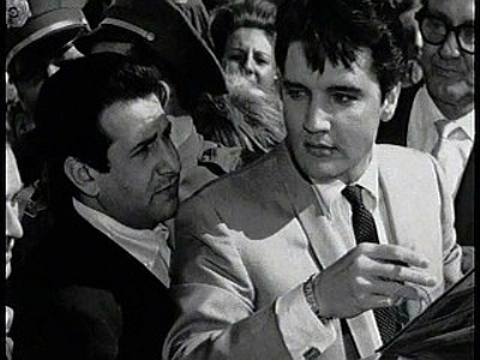 Elvis and Joe Esposito at Set of It Happened at the World's Fair