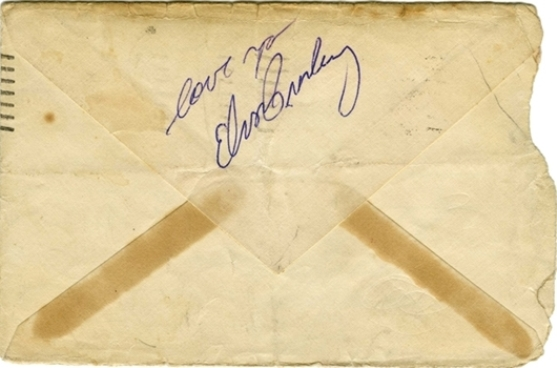 Elvis Presley Signed Envelope