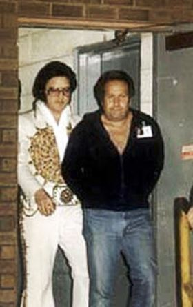 Joe esposito with Elvis Two Months Before He Died