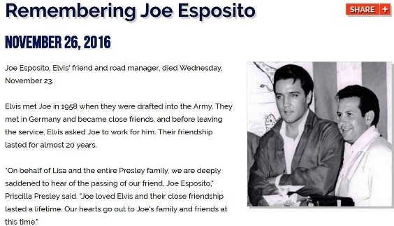 Graceland Remembering Joe Esposito