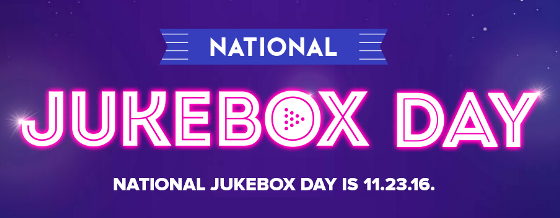 National Jukebox Day Sign