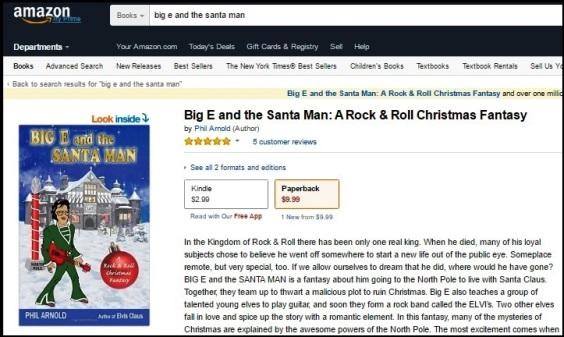 Amazon Page Big E and the SANTA MAN