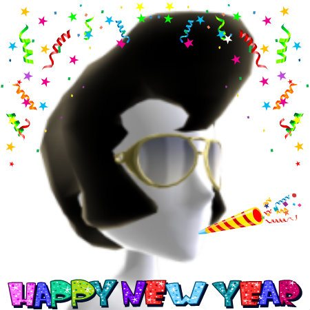 Elvis Characacture Happy New year