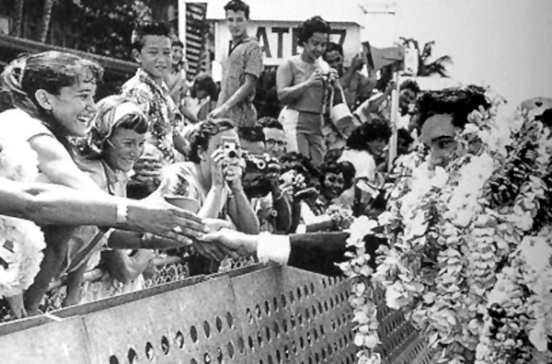 Elvis Greeting Fans Before USS Arizona Memorial Concert