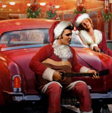 ELvis Presley and Marilyn Monroe Christmas
