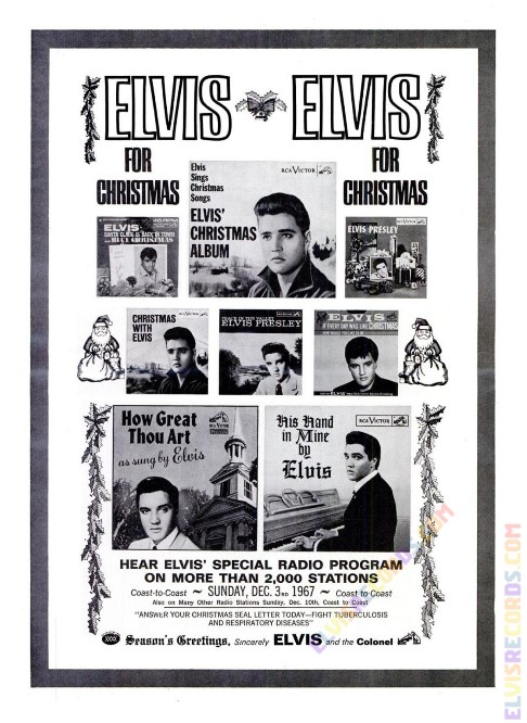 Elvis Special Christmas Program Poster