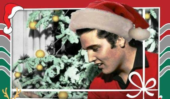 Elvis in Santa Hat