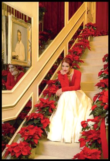 Priscilla on Staircase at Graceland