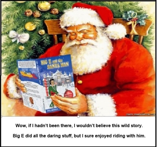 Santa Reading Big E and the Santa Man