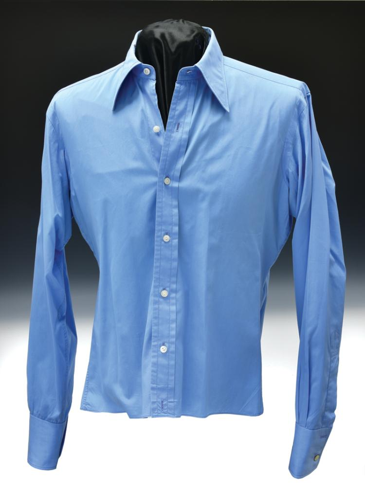Elvis Presley Screen-Worn Blue Dress Shirt from The Trouble with Girls