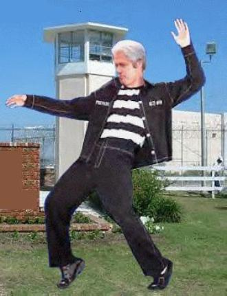 Bill Clinton in Front of Jailhouse