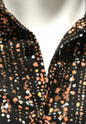 Close-up of Elvis Presley Rainfall Pattern Shirt