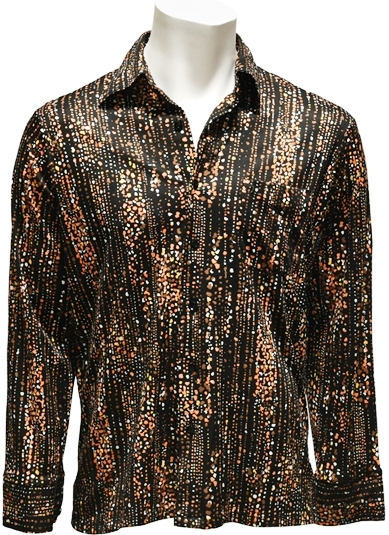 "Elvis Presley ""Rainfall"" Pattern, Button-Down, Dress Shirt"