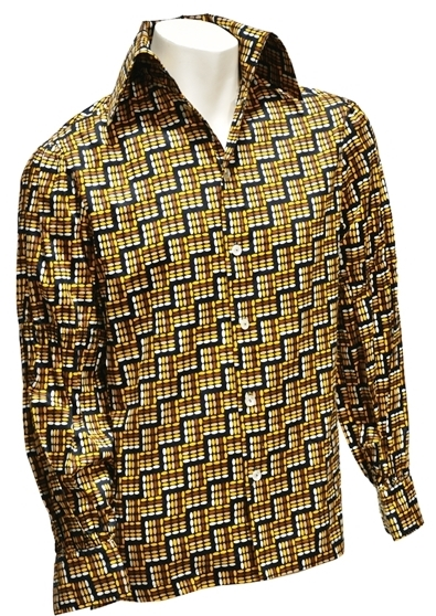 Elvis Presley - Button Down Shirt Gifted to Stamps Member Larry Strickland During 1976 Jungle Room Recording Sessions