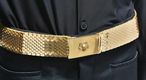 Elvis Presley Gold Metal Belt