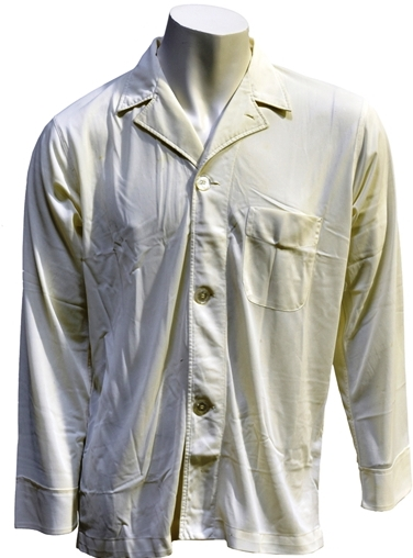 Elvis Presley - White Factor-Rothschild Pajama Top Given to Girlfriend Shelia Ryan
