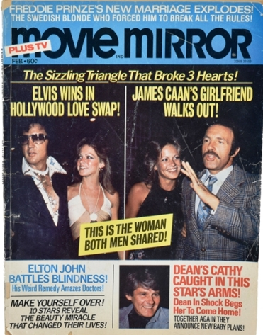 Elvis Presley and Shiela Ryan on Movie Mirror Cover