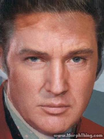 Elvis and Trump Morphed