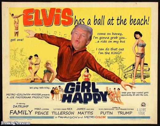 Elvis Trump Girl Happy