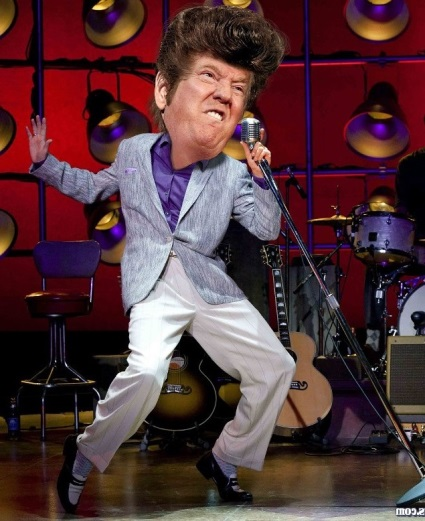 Elvis Trump on Stage