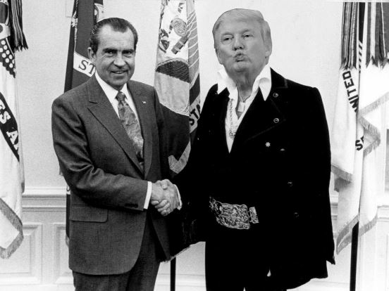 Nixon and Elvis Trump