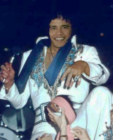 Obama in Elvis Jumpsuit