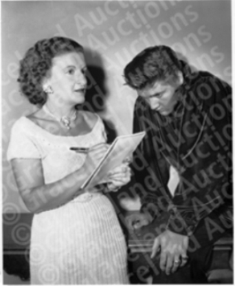 Trude Forsher and Elvis in 1956