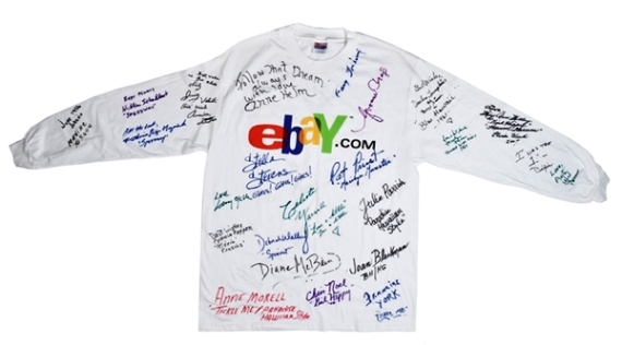 eBay Shirt Signed by 30+ Elvis Presley Co-Stars and Friends
