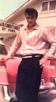Elvis in Pink and Black