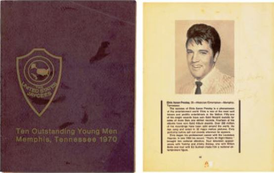 Elvis-Autographed-Americas-Ten-Outstanding-Young-Men-Program