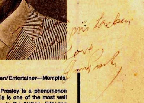 Elvis Signed Program for Marty Lacker's Parents