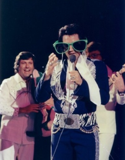 Elvis Wearing Big Glasses
