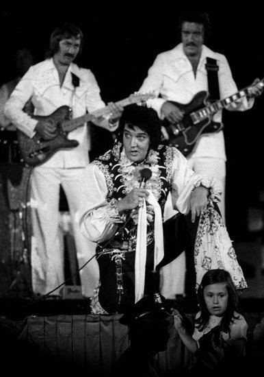 Elvis with Strange Expression on Stage
