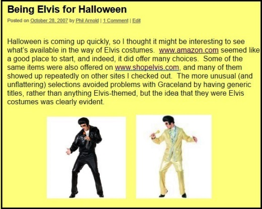 ElvisBlog - Being Elvis for Halloween