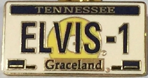 2001 ELVIS PRESLEY ebay Exclusive LICENSE PLATE PIN HRC 77