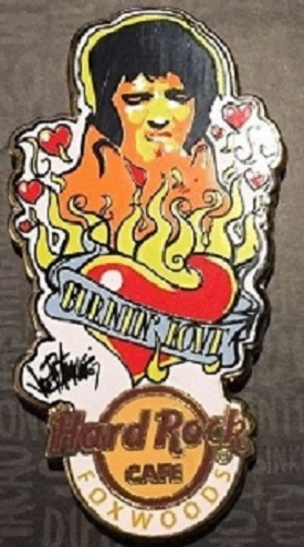 2016 Hard Rock Cafe Foxwoods Pin Elvis Burnin' Love, Joe Petruccio Artwork