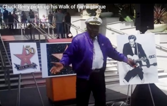 Chuck Berry Star on Walk of Fame Ceremony