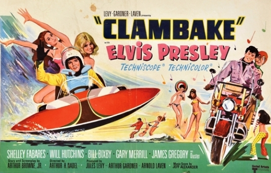 Elvis Clambake Belgian Movie Poster