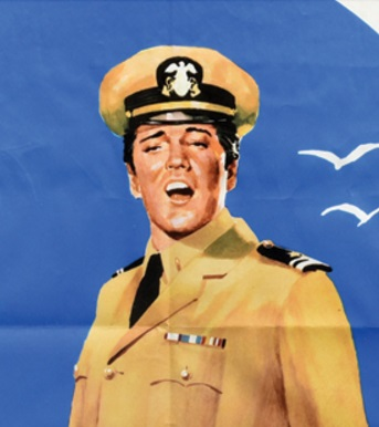 Elvis Easy Come, Go German Movie Poster - Close-Up
