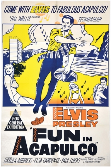 Elvis Fun in Acapulco Australian One Sheet Movie Poster