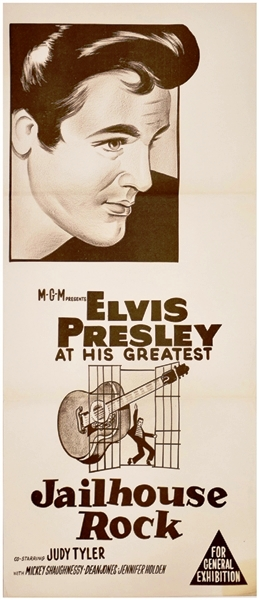 Elvis Jailhouse Rock Australian Movie Poster