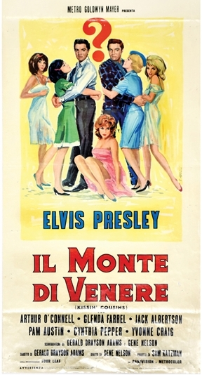 Elvis Kissin' Cousins Italian Movie Poster