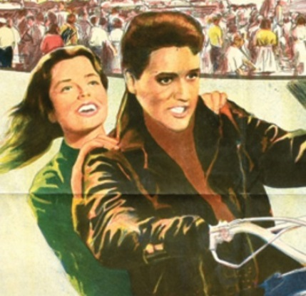 lvis Roustabout Argentinean Movie Poster - Close-up