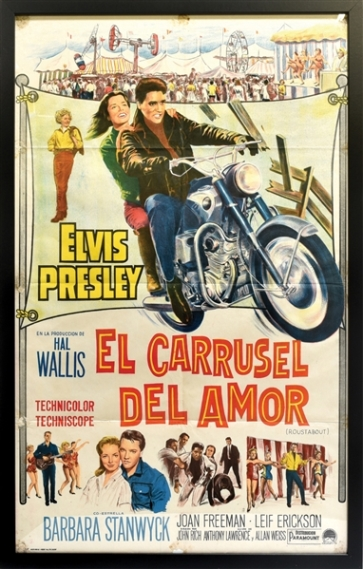 Elvis Roustabout Argentinean Movie Poster