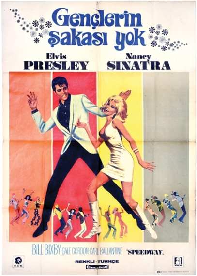 Elvis Speedway Turkish One Sheet Movie Poster