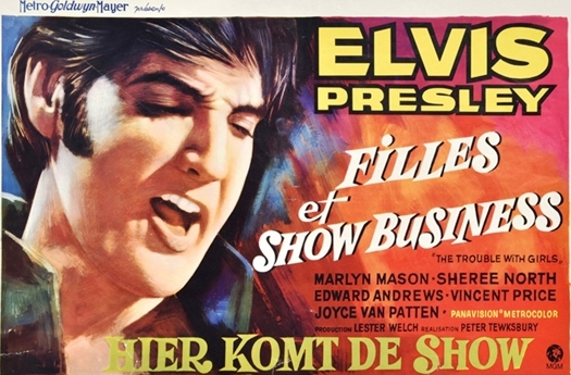 Elvis The Trouble with Girls Belgian Movie Poster