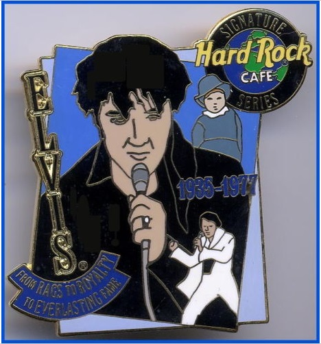 Hard Rock Cafe Elvis Presley Signature Series Pin - Rags Riches Rock Royalty