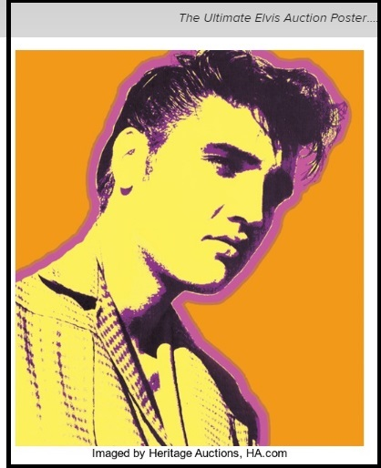 Hertitage Ultimate Elvis Auction Poster