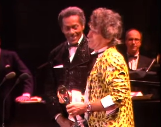 Kieth Richars intorducing Chuck Berry at Rock and Roll Hall of Fame Ceremony